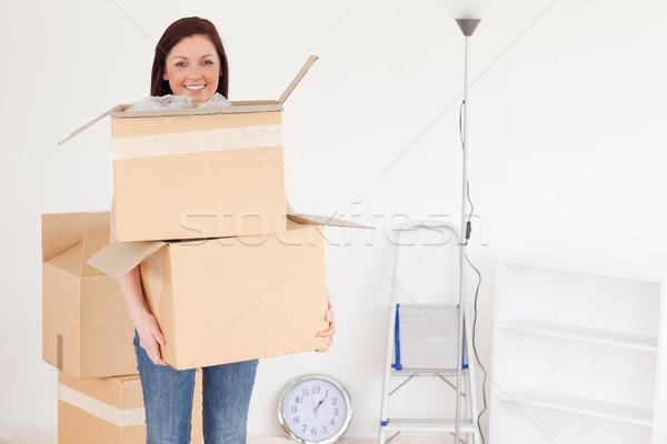 çekici kadın kutuları ev ofis Stok fotoğraf © wavebreak_media