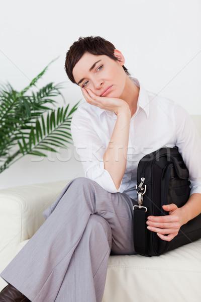 退屈 女性実業家 座って ソファ 待合室 女性 ストックフォト © wavebreak_media