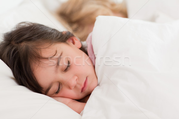 Stock photo: Calm children sleeping in a bedroom