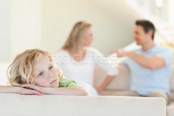 悲しい 少年 両親 後ろ 男 ストックフォト © wavebreak_media