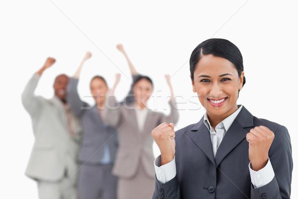 успешный коллеги за белый счастливым Сток-фото © wavebreak_media