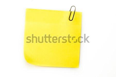 Sticky note with grey paperclip Stock photo © wavebreak_media