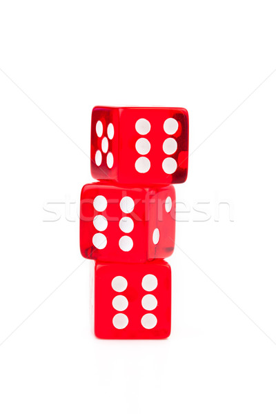 Three dices stacked against a white background Stock photo © wavebreak_media