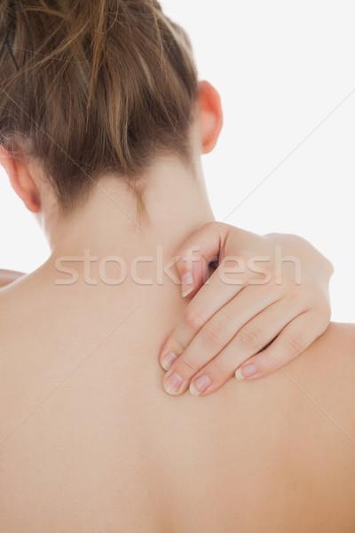 Közelkép topless nő üzenetküldés hát fehér Stock fotó © wavebreak_media