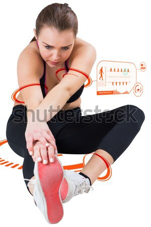 Rear view of sporty young woman massaging neck Stock photo © wavebreak_media