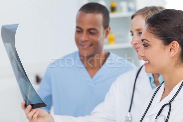 Medical team analysing a radiography Stock photo © wavebreak_media