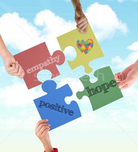 Imagem autismo consciência coração blue sky Foto stock © wavebreak_media