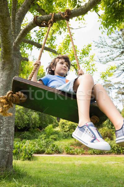 View cute piccolo ragazzo swing Foto d'archivio © wavebreak_media
