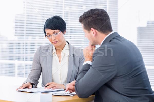 коллеги деловое совещание молодым человеком женщину бизнесмен Сток-фото © wavebreak_media