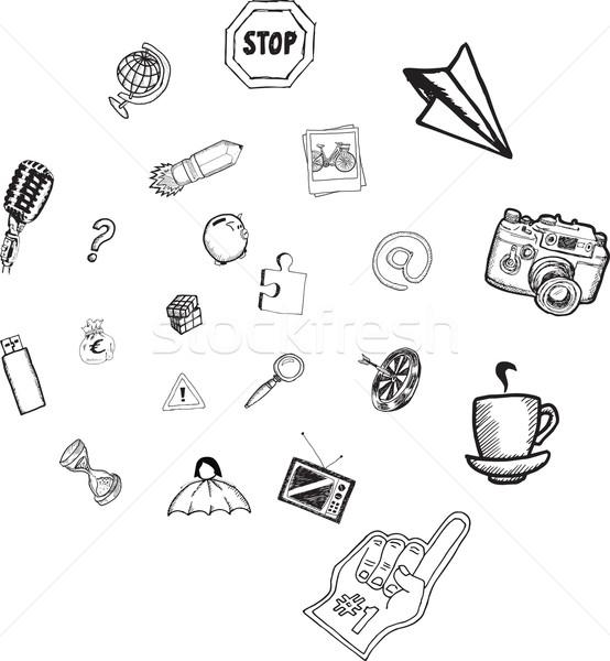 Apps doodles Stock photo © wavebreak_media