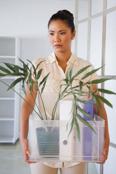 üzletasszony tart doboz dolgok iroda vállalati Stock fotó © wavebreak_media