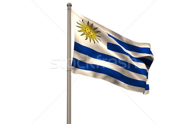 Digitalmente generado Uruguay bandera blanco Foto stock © wavebreak_media