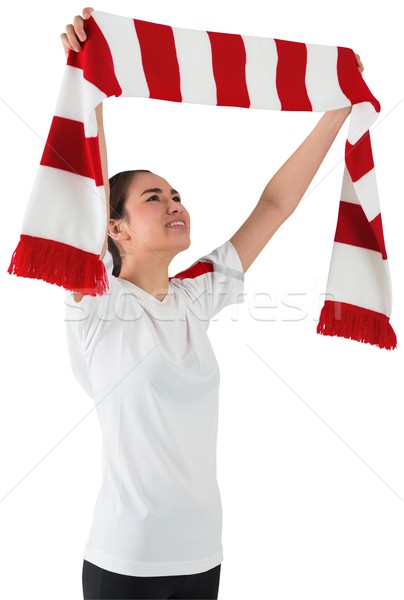 Football fan waving red and white scarf Stock photo © wavebreak_media