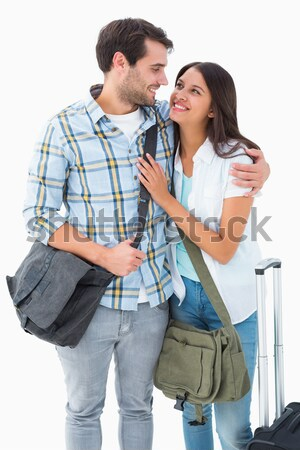 Happy casual couple smiling at each other Stock photo © wavebreak_media