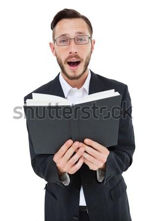 Genç okuma İncil beyaz erkek kafkas Stok fotoğraf © wavebreak_media