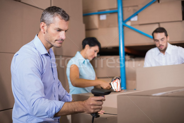 Warehouse workers preparing a shipment Stock photo © wavebreak_media