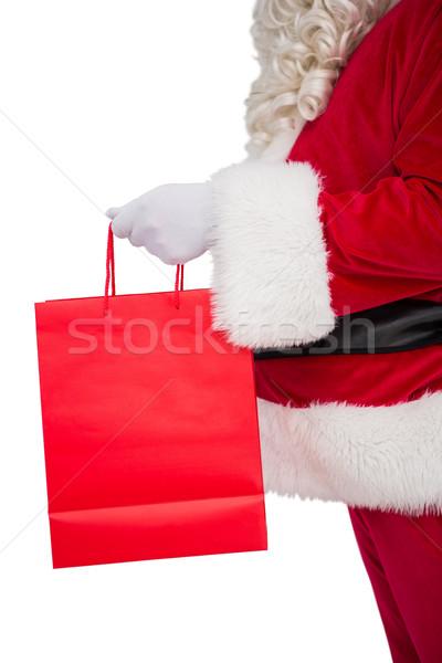 Ojciec Święty mikołaj torbę na zakupy biały mężczyzna Zdjęcia stock © wavebreak_media