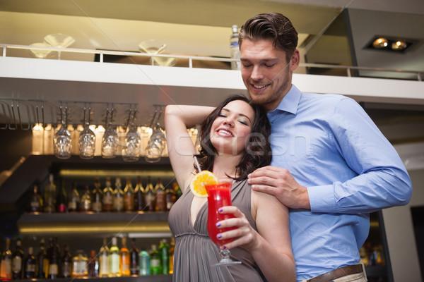Cute couple permanent rire ensemble discothèque Photo stock © wavebreak_media