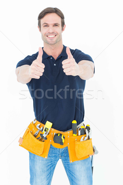 Homem ferramenta cinto Foto stock © wavebreak_media