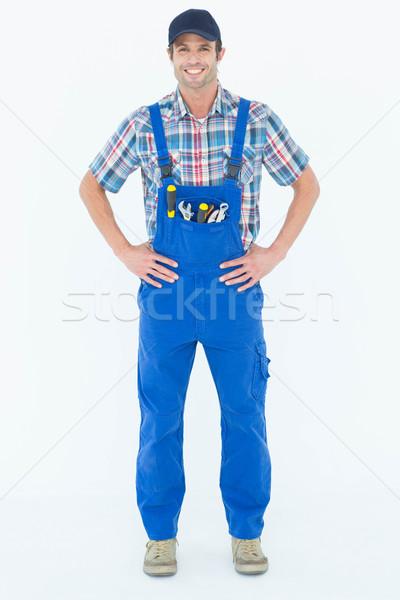 Portrait of confident plumber with hands on hip Stock photo © wavebreak_media