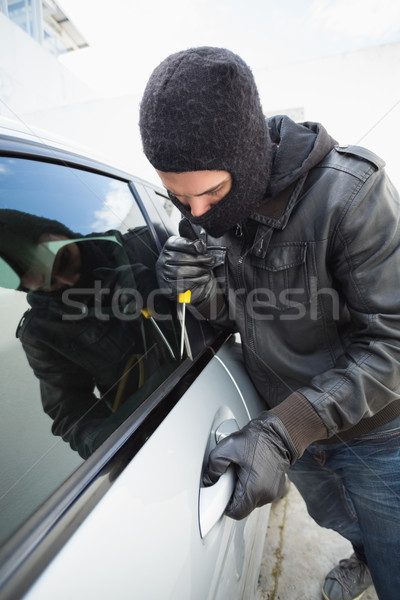 Hırsız araba kapı pencere erkek sigorta Stok fotoğraf © wavebreak_media