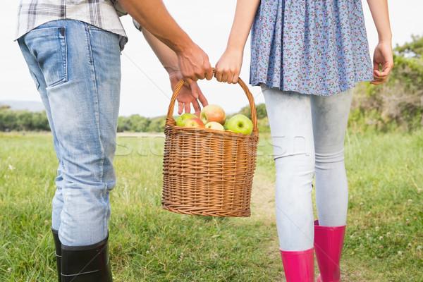 Couple holding basket full of apples  Stock photo © wavebreak_media