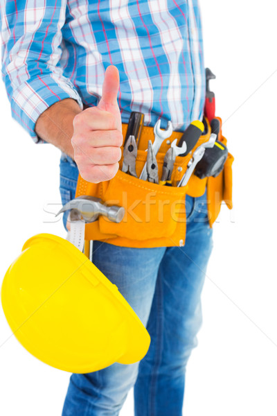 Midsection of manual worker gesturing thumbs up Stock photo © wavebreak_media
