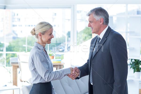 деловая женщина рукопожатием бизнесмен служба стороны человека Сток-фото © wavebreak_media