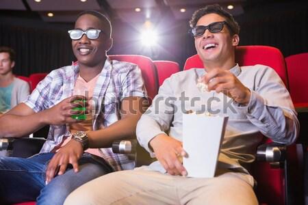 смотрят 3D фильма кино женщину Сток-фото © wavebreak_media