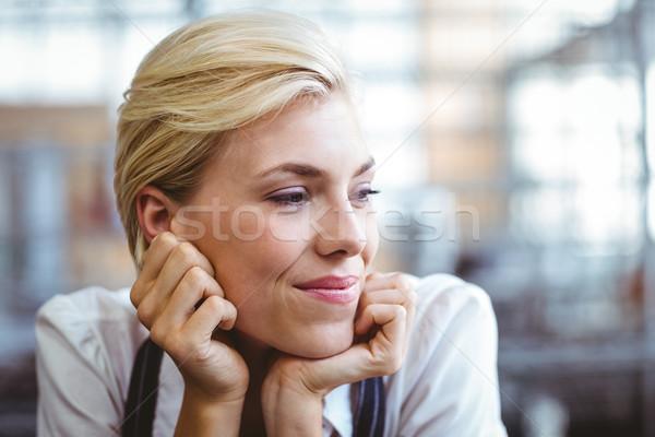 Selfassured female waitress smiling  Stock photo © wavebreak_media