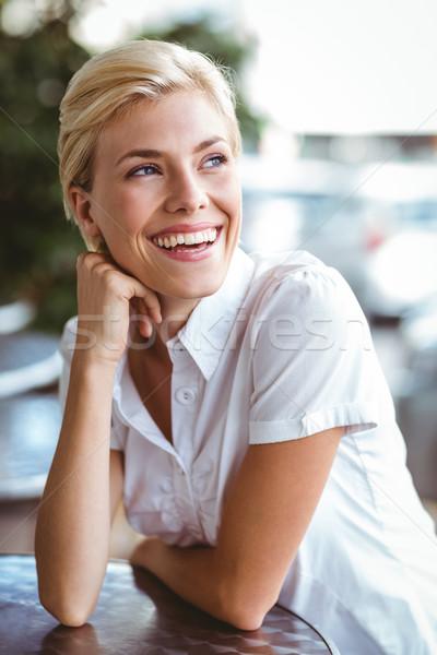 Kafejka właściciel uśmiechnięty działalności szczęśliwy kierownik Zdjęcia stock © wavebreak_media