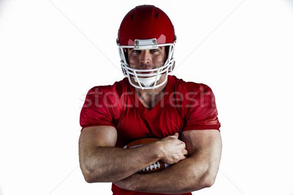 Americano futbolista pelota blanco deporte rojo Foto stock © wavebreak_media