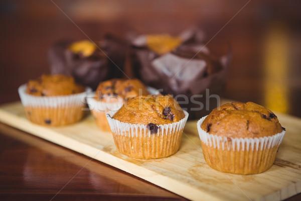 チョコレート チップ 乳房 まな板 コーヒーショップ 食品 ストックフォト © wavebreak_media