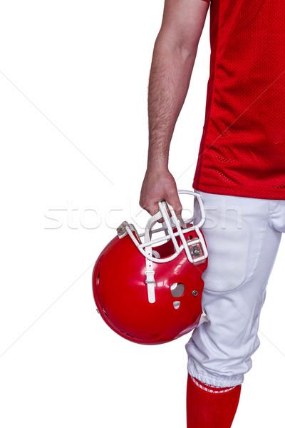 Amerikai futballista tart sisak fehér Stock fotó © wavebreak_media