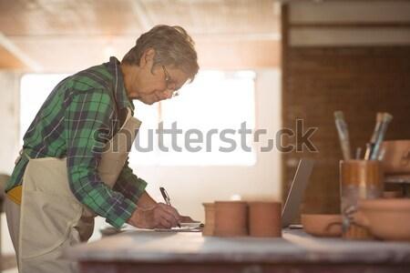 художник графика сидят столе компьютер пер Сток-фото © wavebreak_media