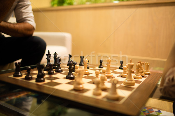 Satranç tahtası cam tablo satranç kurumsal Stok fotoğraf © wavebreak_media