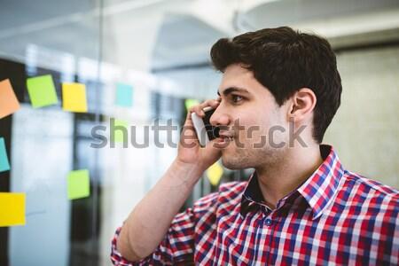 Thoughtful businessman looking at chart Stock photo © wavebreak_media
