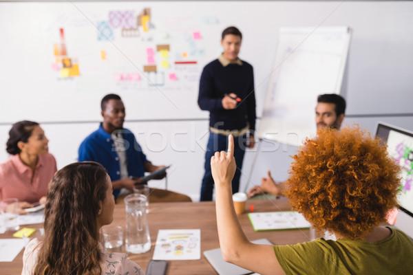 Imprenditrice mano riunione creativo ufficio business Foto d'archivio © wavebreak_media