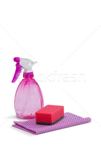 Aerosol botella servilleta tela blanco fitness Foto stock © wavebreak_media