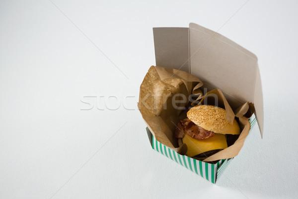 Hamburger kaas vlees vak Stockfoto © wavebreak_media