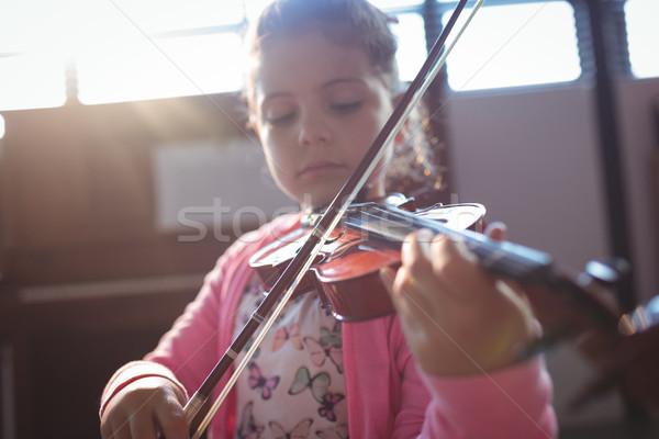 Girl student rehearsing violin Stock photo © wavebreak_media