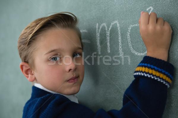 öğrenci yazı matematik formül kara tahta portre Stok fotoğraf © wavebreak_media