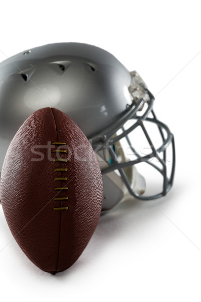Close-up of football and sports helmet Stock photo © wavebreak_media