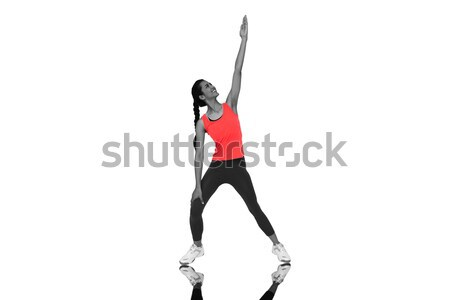 Low section of sportsman kicking rugby ball on tee Stock photo © wavebreak_media