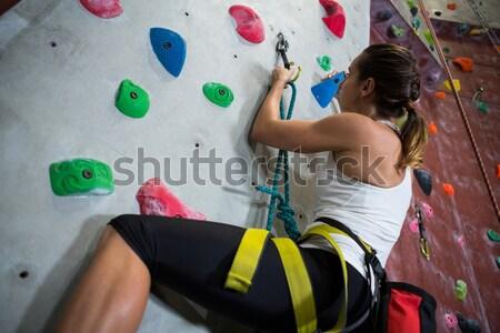 Arrampicata fitness studio ragazza Foto d'archivio © wavebreak_media