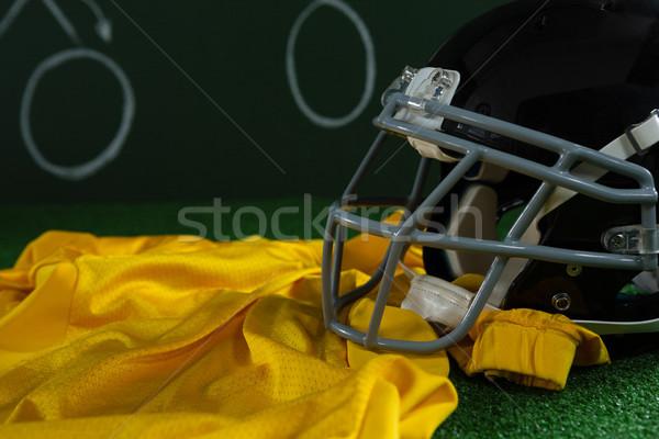 Football tête engins artificielle gazon Photo stock © wavebreak_media