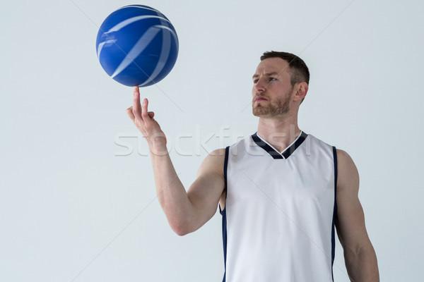 игрок баскетбол пальца белый дерево человека Сток-фото © wavebreak_media