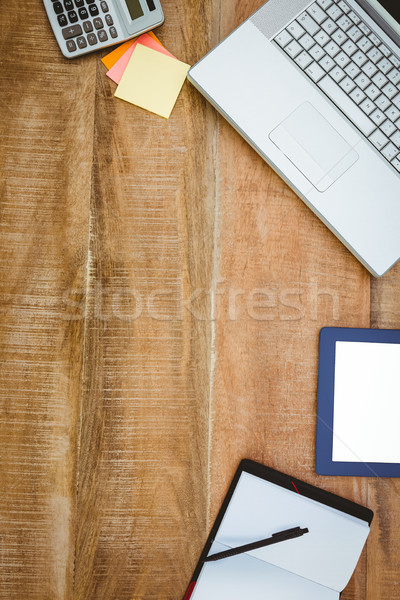 Business desk with laptop and tablet Stock photo © wavebreak_media
