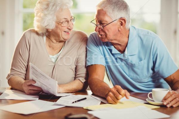 Starszy para domu człowiek starszych salon Zdjęcia stock © wavebreak_media