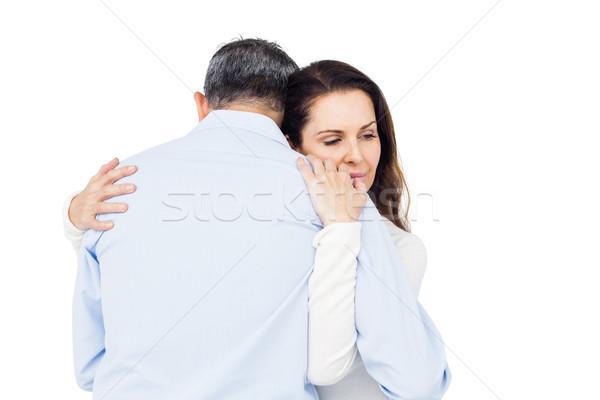 Stil paar troostend ander witte vrouw Stockfoto © wavebreak_media